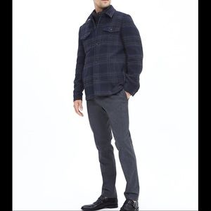 Banana Republic Plaid Shirt Jacket